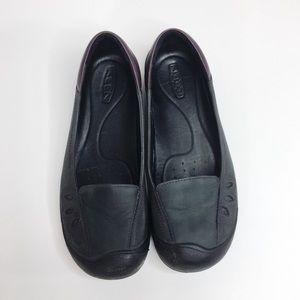 Keen Women's Barika Nubuck Slip On Flats Black